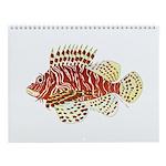 Tropical Ocean Reef Fish Wall Calendar