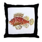 Red Lionfish Throw Pillow