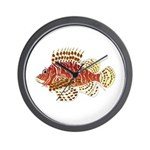 Red Lionfish Wall Clock