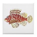 Red Lionfish Tile Coaster