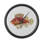 Red Lionfish Large Wall Clock