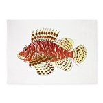 Red Lionfish 5'x7'Area Rug