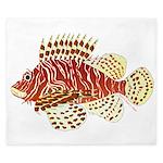 Red Lionfish King Duvet