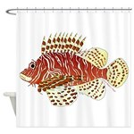 Red Lionfish Shower Curtain