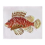 Red Lionfish Throw Blanket