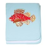 Red Lionfish c baby blanket