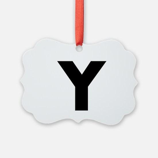 Modern Monogram Ornament
