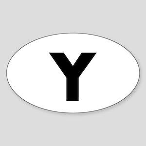 Modern Monogram Sticker