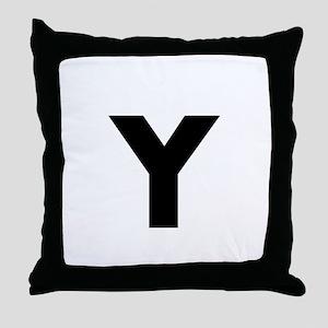 Modern Monogram Throw Pillow