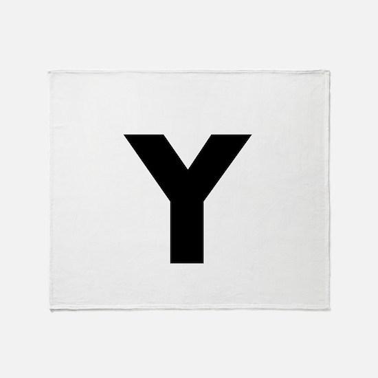 Modern Monogram Throw Blanket