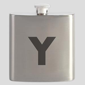 Modern Monogram Flask