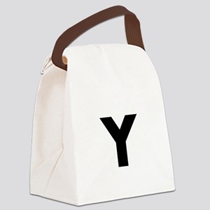 Modern Monogram Canvas Lunch Bag