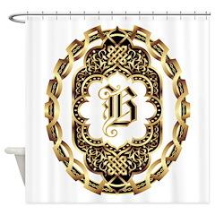 Monogram B Shower Curtain