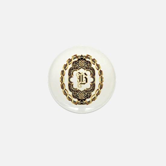 Monogram B Mini Button