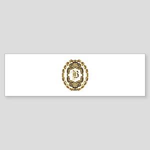 Monogram B Sticker (Bumper)