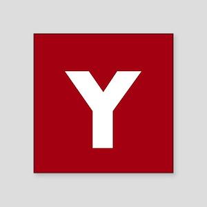 Modern Monogram Red Sticker