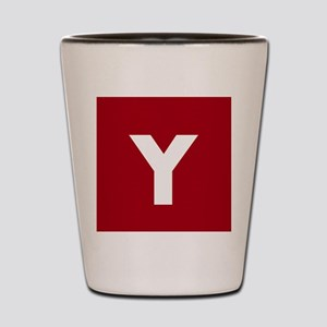 Modern Monogram Red Shot Glass