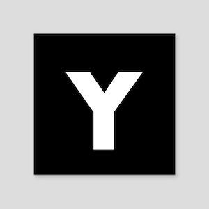 Modern Monogram Black White Sticker