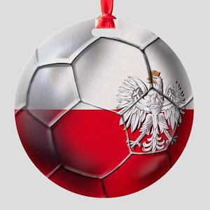 Poland Football Round Ornament