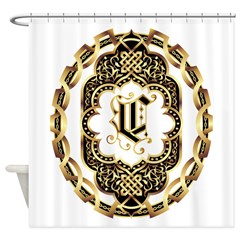 Monogram C Shower Curtain