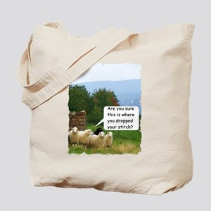 Drop Stitch Sheep Tote Bag