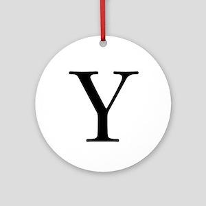 Classic Monogram Ornament (Round)