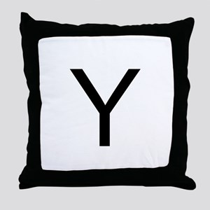 Classic Monogram Throw Pillow