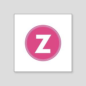 Modern Monogram Pink Circle Sticker