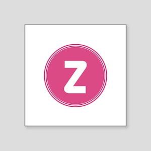 Pink Monogram Retro Sticker