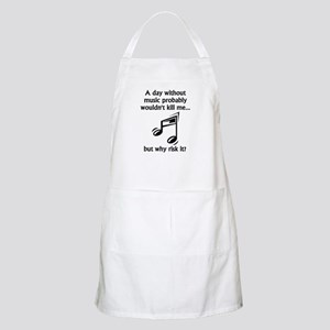 A Day Without Music Apron