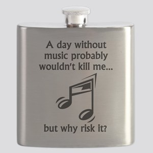 A Day Without Music Flask