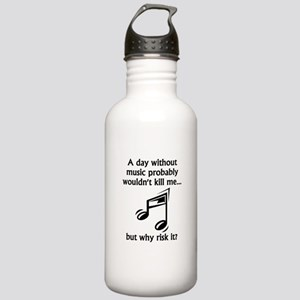 A Day Without Music Sports Water Bottle