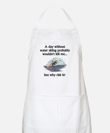 A Day Without Water Skiing Apron
