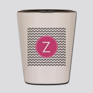 Gray Pink Monogram Shot Glass