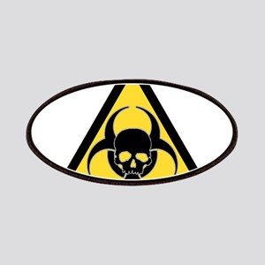 Biohazard symbol and skull Patches