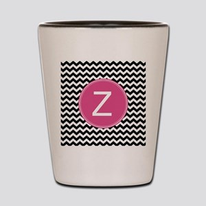 Black Pink Monogram Shot Glass