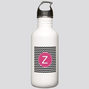 Black Pink Monogram Water Bottle