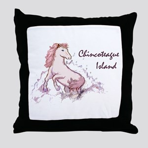 Pink Pony Sketch Throw Pillow