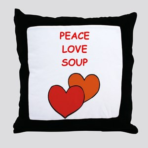 soup Throw Pillow