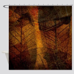 brown leaf print Shower Curtain