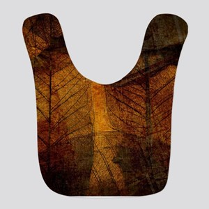 brown leaf print Bib