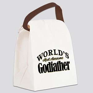 World's Most Awesome Godfather Canvas Lunch Bag