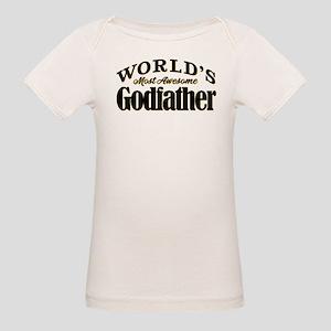 World's Most Awesome Godfathe Organic Baby T-Shirt