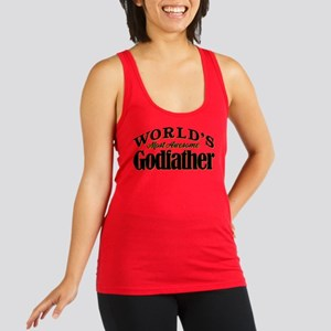 World's Most Awesome Godfather Racerback Tank Top