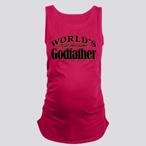 World's Most Awesome Godfather Maternity Tank Top
