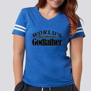 World's Most Awesome Godfath Womens Football Shirt