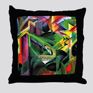 Franz Marc: Deer in a Monastery Garde Throw Pillow