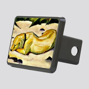 Franz Marc: Dog Lying in t Rectangular Hitch Cover