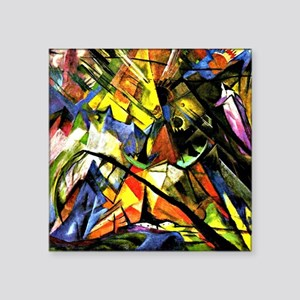 "Franz Marc painting: Tyrol Square Sticker 3"" x 3"""