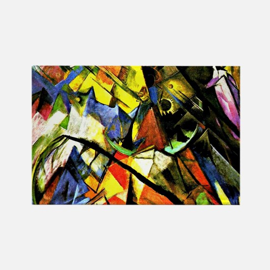Franz Marc painting: Tyrol Rectangle Magnet